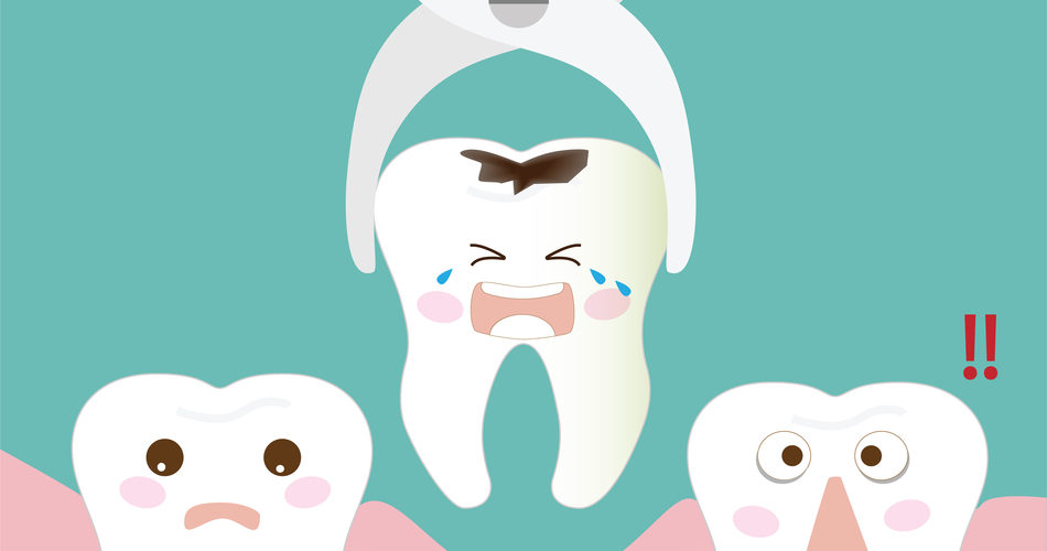 tooth extraction with tool